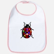 Ladybug Colorful Gem Dots Bib