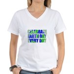 Earth Day Every Day Women's V-Neck T-Shirt
