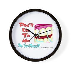 Do you Floss? Wall Clock
