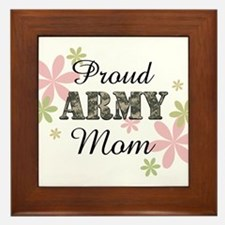 Proud Army Mom [fl2] Framed Tile