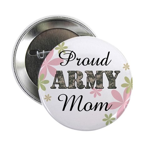 "Proud Army Mom [fl2] 2.25"" Button (10 pack)"