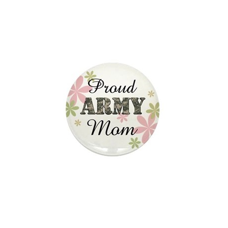 Proud Army Mom [fl2] Mini Button