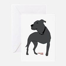 Tripawds Front Leg Pit Bull Greeting Cards (Pk of