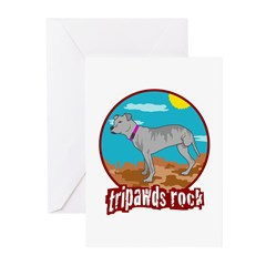 Tripawds Rock - Lottie Greeting Cards (Pk of 10)