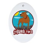Tripawds Rock (Trouble) Ornament (Oval)