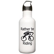 """Rather be Cycling"" Water Bottle"