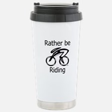 """""""Rather be Cycling"""" Stainless Steel Trav"""