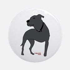 Tripawds Front Leg Pit Bull Ornament (Round)