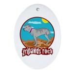 Tripawds Rock - Lottie Ornament (Oval)