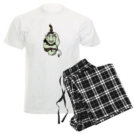 Happy Green Troll Men's Light Pajamas