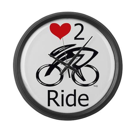 Love 2 ride Large Wall Clock
