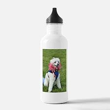 Patriotic poodle Water Bottle