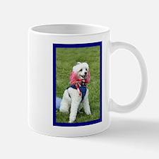 Patriotic poodle Mug