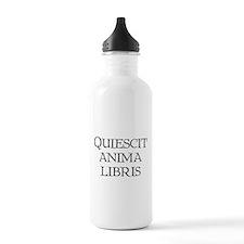 """""""Quiescit Anima Libris"""" Water Bottle"""
