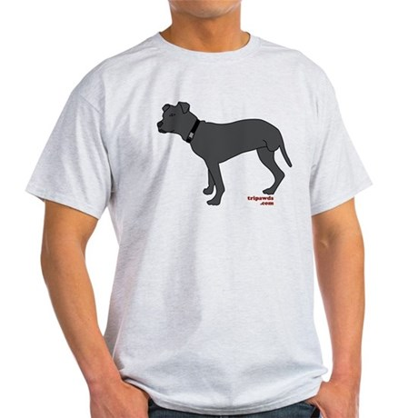 Tripawds Rear Leg Pit Bull Light T-Shirt