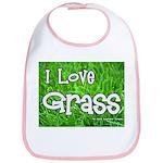I Love Grass Bib