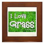 I Love Grass Framed Tile