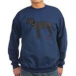 Rear Leg Tripawd Pit Bull Sweatshirt (dark)