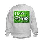I Love Grass Kids Sweatshirt