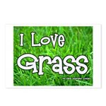 I Love Grass Postcards (Package of 8)