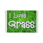 I Love Grass Rectangle Magnet