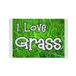 I Love Grass Rectangle Magnet (100 pack)