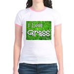 I Love Grass Jr. Ringer T-Shirt