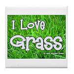 I Love Grass Tile Coaster