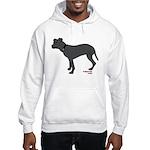 Rear Leg Tripawd Pit Bull Hooded Sweatshirt