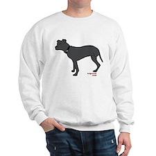 Rear Leg Tripawd Pit Bull Sweatshirt