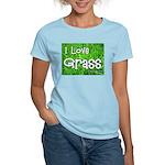 I Love Grass Women's Pink T-Shirt