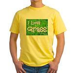 I Love Grass Yellow T-Shirt