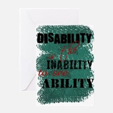 Disability is... Greeting Card