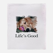 Life is Good Throw Blanket