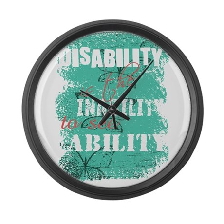 Disability is... Large Wall Clock