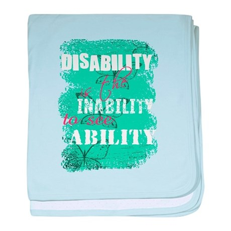 Disability is... baby blanket