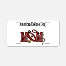 American Eskimo Dog Mom Aluminum License Plate