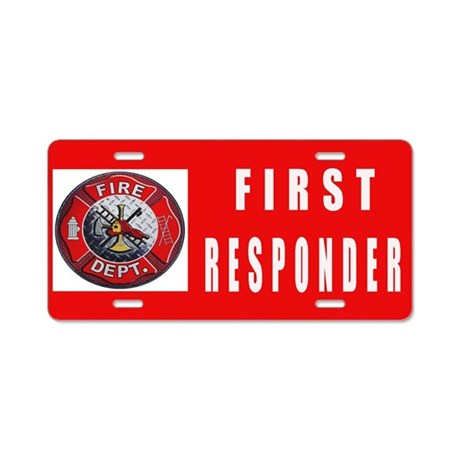 FIRST RESPONDERS Aluminum License Plate