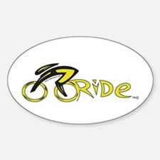 rider aware 2 Sticker (Oval)