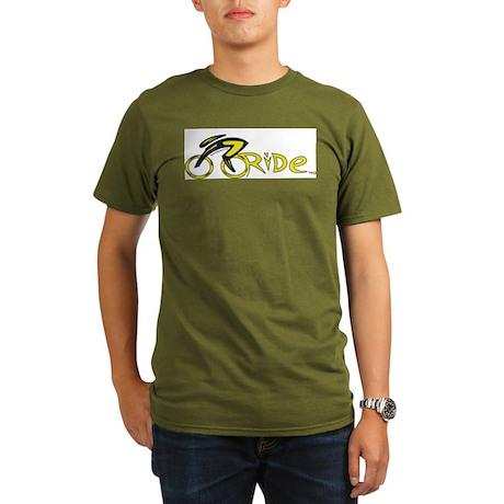 rider aware 2 Organic Men's T-Shirt (dark)