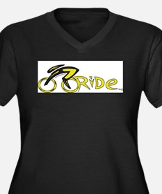 rider aware 2 Women's Plus Size V-Neck Dark T-Shir