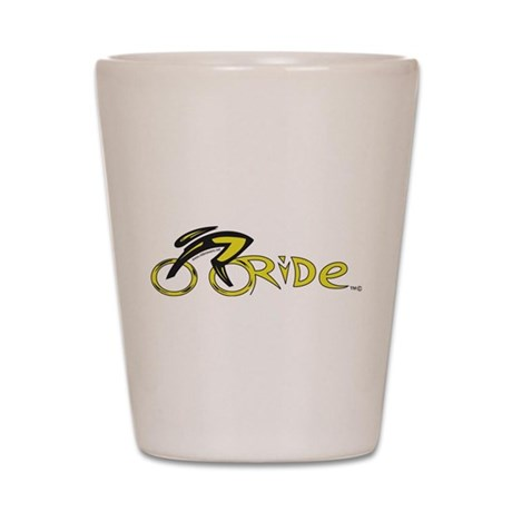 rider aware 2 Shot Glass
