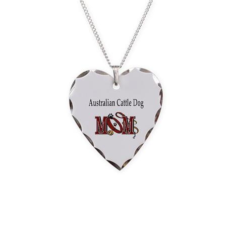 Austalian Cattle Dog Necklace Heart Charm