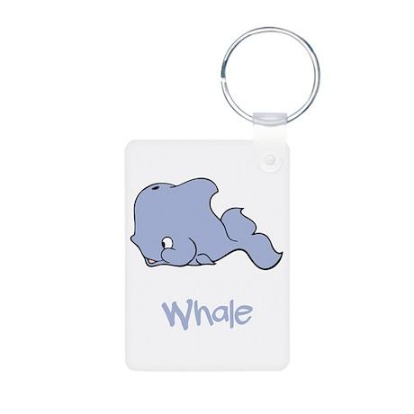 Whale Aluminum Photo Keychain