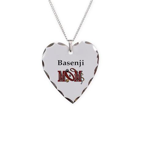 Basenji Necklace Heart Charm