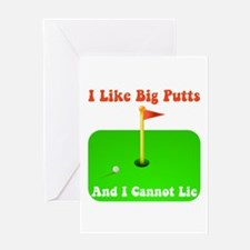 Big Putts Greeting Card