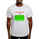 I like big putts Mens Light T-shirts