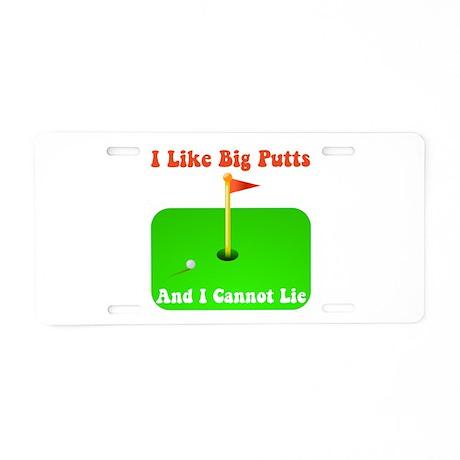 Big Putts Aluminum License Plate