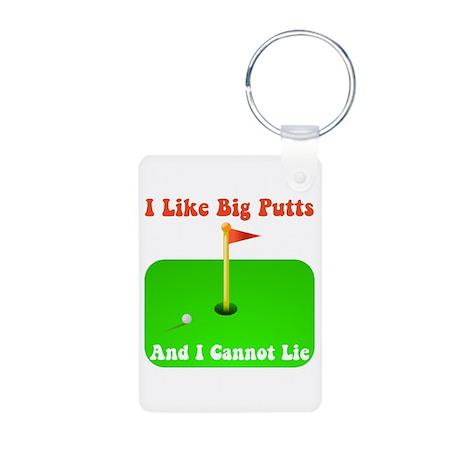 Big Putts Aluminum Photo Keychain