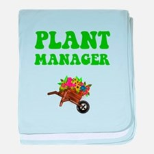 Plant Manager baby blanket